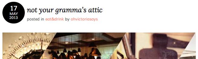 not your gramma's attic