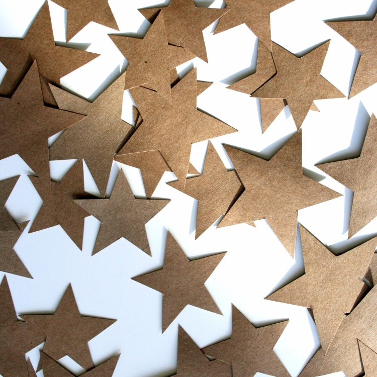 easy diy: paper star garland